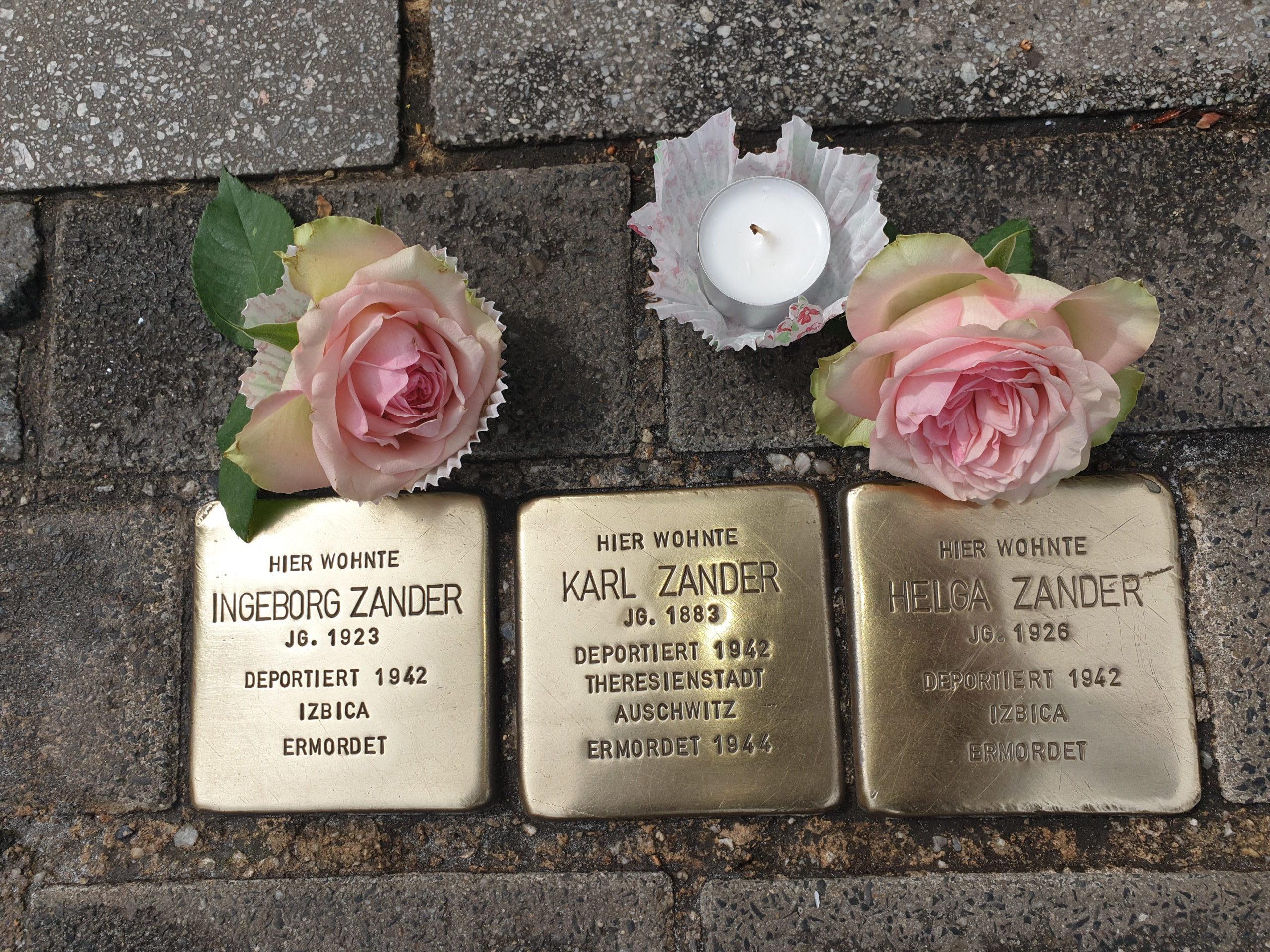 Stolperstein-Putzaktion zum 8. Mai